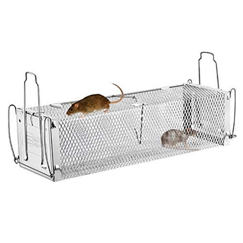Cosy-TT 2-türiger, humaner Tier-Lebendkäfig, Rattenkäfigfalle, Mausefänger für Ratten, sichere, Wiederverwendbare Kleinmäusefalle für kleine Nagetiere für den Innen- und Außenbereich -