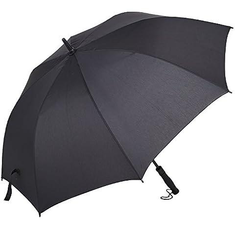 ihoven 51 Inch Large Umbrella, Long Auto Open Black Windproof & Stormproof Travel Golf Unisex Rain Umbrella For Men and Women Carrying Bag