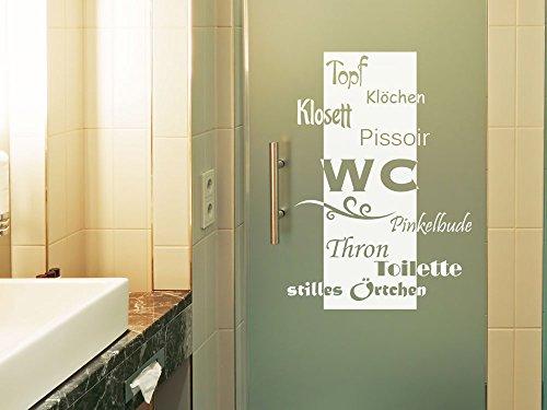 Glasdekor Fensterfolie Aufkleber Sichtschutz Badezimmer WC Klo ...