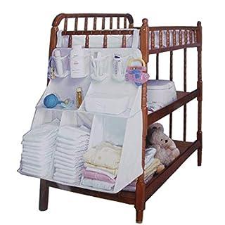 amyjazz Baby Crib Cot Tidy Pockets Nappy Organiser Storage Bag 63 x 48 x 25cm
