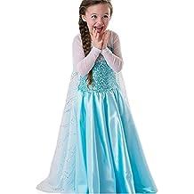 Princesa Frozen- Traje de niñas / traje de la princesa de la nieve - Azul - Talla 134-140 (140 cm)