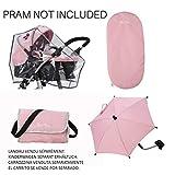 Silver Cross, kit di accessori per carrozzina per bambole - Tessuto Vintage Pink