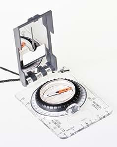 Huntington Kartenkompass ACL-1 GLOBAL, Kompass System für nördliche und südliche Hemisphäre, durchsichtiges Acrylgehäuse, professionell flüssigkeitgedämpft mit Skalen, Spiegel im Deckel / Vergrößerungsglas, DC45-6D