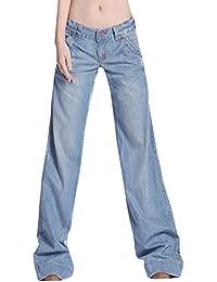 26bc3a2c5e90 Femmes 60S 70S Large Pattes Flare Denim Pantalon Fusées Hippie Vintage  Bootcut Long Jeans