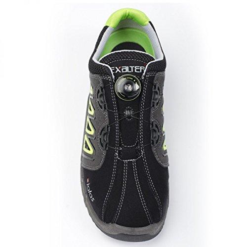 Jalas Chaussures de sécurité 9538exalter easyroll S1P SRC HRO Noir/Gris/Vert