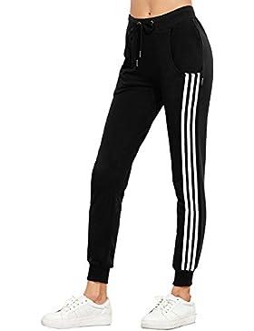 Pantaloni Vita Alta Donna Eleganti Moda Lunga Stripe Estivi Pantaloni Mode di marca Con Coulisse Slim Fit Pantaloni...