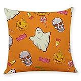 SMILEQ Home Decor Kissenbezug Happy Halloween Throw Kissenbezug Kissenbezüge (E)