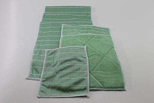 Bambus-Kristall Fenstertücher 6er inkl. Optik-/Smartphone-Reinigungstuch