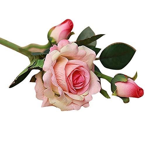 UOWEG Künstliche Kunstblume High Realistic Appearance 5 Stück Real Latex Rose Blumen für Hochzeit und Home Design Bouquet Decor -