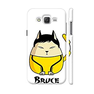 Colorpur Bruce Lee The Cat Designer Mobile Phone Case Back Cover For Samsung Galaxy J5 | Artist: Giordano Aita