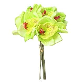 Fleurs Artificielle Fleur de simulation Faux bouquet de mariage floral orchidée Hortensia nuptial Accessoires de Photographie Cadeau romantique pour la Saint Valentin Touche réelle décor exquis