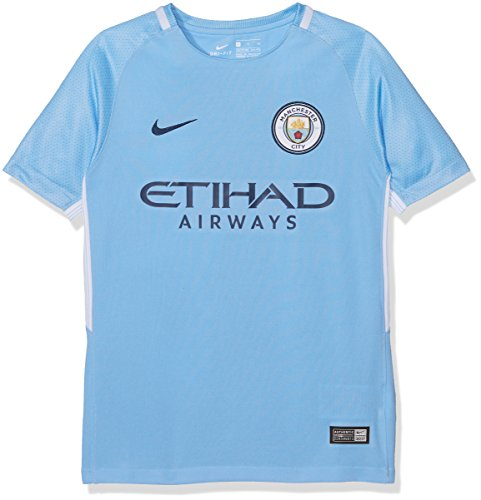 Nike MCFC Y NK BRT STAD JSY SS HM Camiseta 1ª equipación Manchester City FC 17-18, Unisex niños, Azul (Field Blue/Midnight Navy), XL