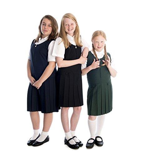 Girl's premier quality heart zip pinafore dresses