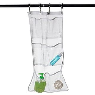 Generic 6Taschen sichtbar mesh Organizer Badezimmer Badewanne Dusche Aufhängung Halter Aufbewahrungstasche Aufbewahrungsbeutel Rack Organizador