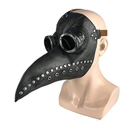 Yalatan Halloween Pest Vogel Arzt Maske mit Brille Gothic Gesichtsmaske Cosplay Maske Festliche Party Supplies