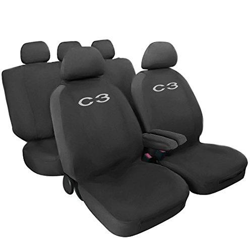 Lupex Shop Citroen C3 einfarbige Sitzbezüge - grau