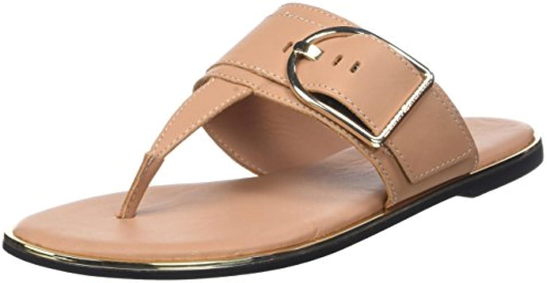 Tommy Over Hilfiger Flat Sandal Over Tommy d Buckle, Salomés FemmeB078T7LYNLParent c29248