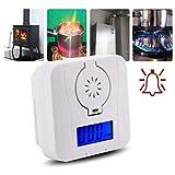 BovoYa CO Detektor Alarm Kohlenmonoxid Melder mit LCD Anzeige Giftgasdetektor Hochempfindlicher Rauchmelder Geeignet für Hause Küche