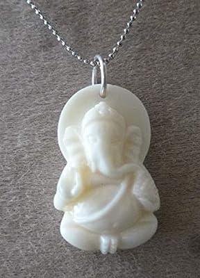 pendentif Ganesh ethnique corail acrylique