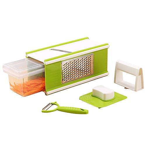 Pnteibo Gemüseschneider, Küchenmesser 5 In 1 Vierseitige Hackmaschine Hackschneidemaschine Mit...