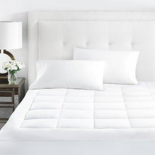 Sleep Wiederherstellung Premium Microplüsch Matratze Pad, hypoallergenem Ultra Weich angesammelt Topper mit Tiefer Sitz Twin XL weiß - Twin Loft Full