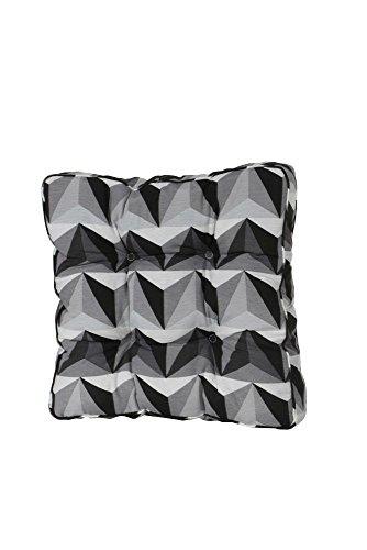 Madison 984818 Coussin d'Assise pour Fauteuil Coton/Polyester Gris 47 x 47 cm