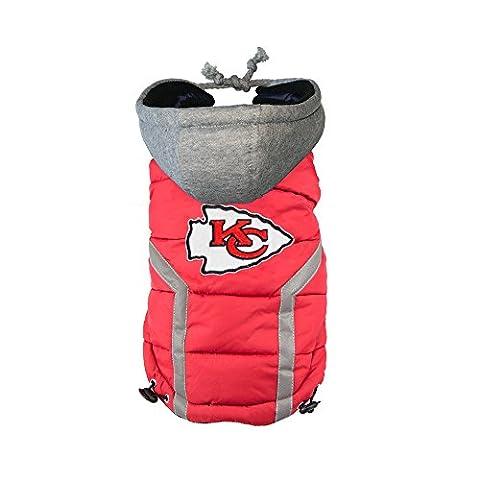 NFL Kansas City Chiefs Dog Puffer Vest, XX-Large