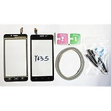 JRLinco Para Huawei Ascend y635 Pantalla de Cristal Táctil, Touch Screen Digitizer Outer Glass Replacement (Sin LCD Display, no compre mal) Para Negro+ Herramientas y Adhesivo de Doble Cara