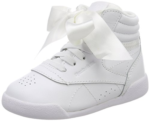 Reebok Mädchen Freestyle Hi Satin Bow Gymnastikschuhe, Elfenbein (Whiteskull Grey), 20 EU (Reebok Freestyles)