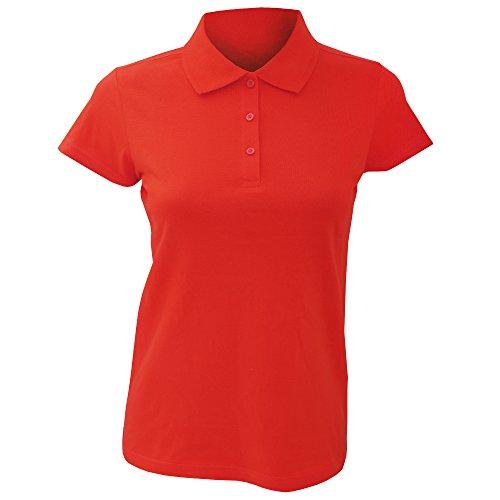 SOLS Prescott - Polo 100% coton à manches courtes - Femme Rouge
