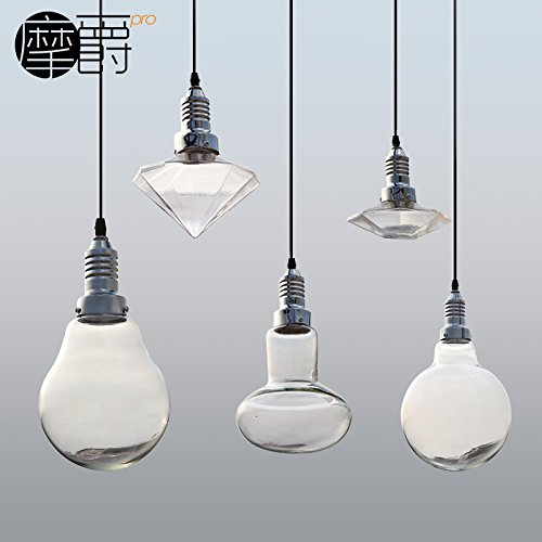 qwer Lampade ristorante bar creative minimalista moderno LED 3W singolo lampadario di cristallo per la testa della lampada
