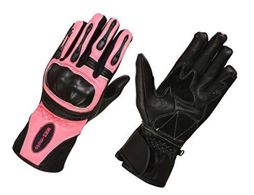 Mbsmoto gll13 guanti protettivi da donna, per moto, colore: rosa