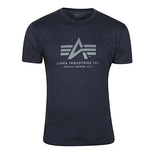 Alpha Industries Herren Basic T-Shirt L Rep. Blue -