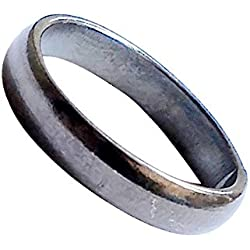 Ankita Gemstones Real Black Horse Shoe Iron Ring (Kale Ghode Ki Naal) Unisex Ring