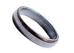 Ankita Gemstones Real Black Horse Shoe Iron Ring (Kale Ghode ki Naal Ki Ring )