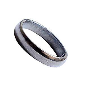 Ankita Gemstones Real Black Horse Shoe Iron Ring (Kale Ghode ki Naal Ki Ring)