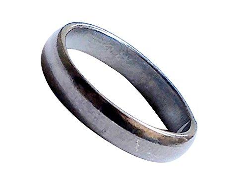 Ankita Gemstones Real Black Horse Shoe Iron Ring (Kale Ghode Ki Naal) Unisex Ring