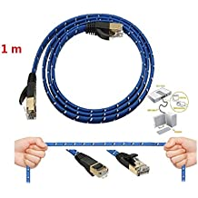 1 m CAT-7 10 Gigabit Ethernet Cable Módem Router RJ45 para red LAN