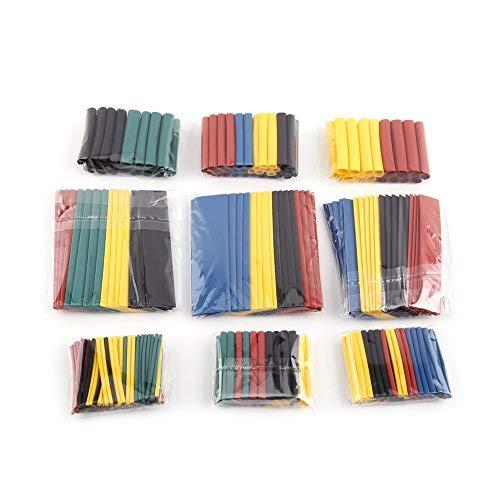 328pcs Confezione di termorestringenti tubo retrazione Kit guaina retrazione per proteggere le connessioni e saldature Riparazione dei cavi isolamento