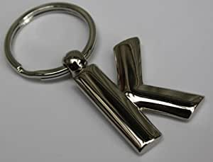Porte-clefs Lettre K (métal solide)