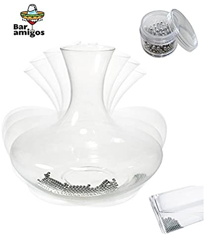 Bar Amigos® Stainless Steel Decanter Cleaning Balls - Removes Residue & Grime For Cleaning Hard To Reach Areas Items Such As Glass Decanters, Vases, Baby Bottles, Flasks, Glassware and more
