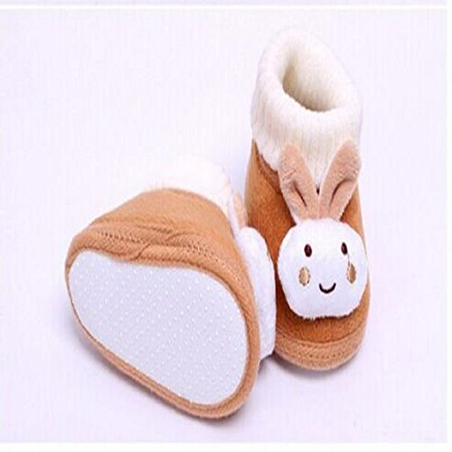 Malloom Säugling Babyschuhe Gehen Kleinkind Mädchen Jungen Krippe Schuhe Weich Stiefel (14, rosa) braun