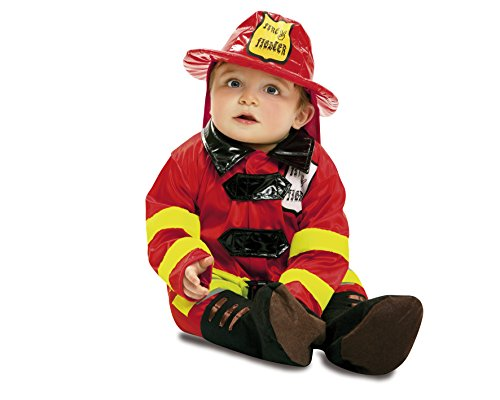 Viving Costumes-My Other Me - MOM00908, Costume per travestimento da piccolo pompiere, 7-12 mesi