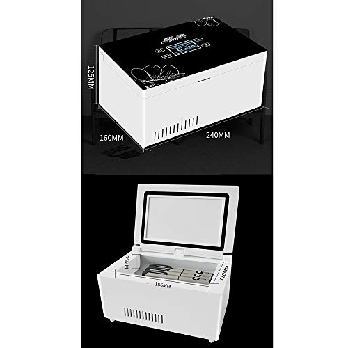 41IA XwOXCL - Refrigerador PortáTil De Insulina Mini Refrigerador Enfriador EléCtrico Nevera Coche Refrigerador De Medicamentos para El Hogar Oficina Viajes 2-18 ° C Negro