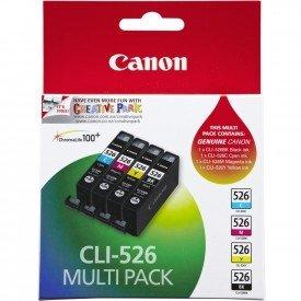 Canon CLI-526 4 Cartuchos Valuepack de tinta original Schwarz/Cian/Magenta/Amarillo (Incluye PP-201 50 sheets) für Pixma Inkjet Drucker MX715-MX885-MX895-MG5150-MG5250-MG5350-MG6150-MG6250-MG8150-MG8250-iP4850-iP4950-iX6550 - Photo Pack Tinte
