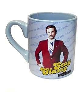 Anchorman Movie Stay Classy Ceramic 14 Ounce Coffee Mug by Silver Buffalo