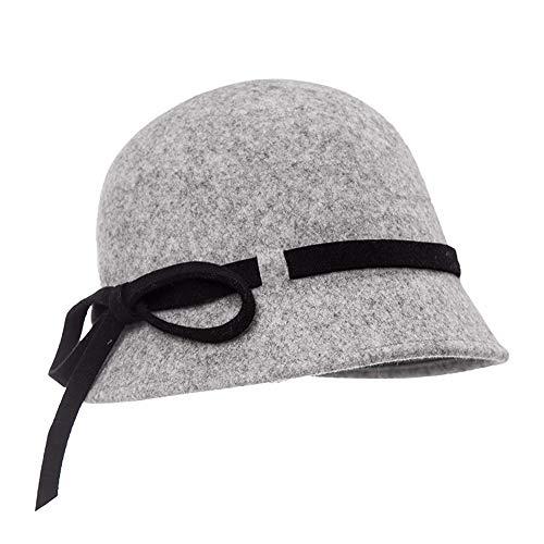 XIAOYAN Frauen Winter koreanische Version der Flut Kappe Herbst kleinen Hut Mütze Hut Hut Hut (Farbe : Gray)