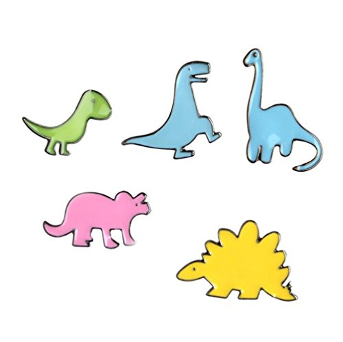 Little Dinosaurs T-shirt Scarf Badge Brooch and Pin Set for Women Children Men(5Piece)