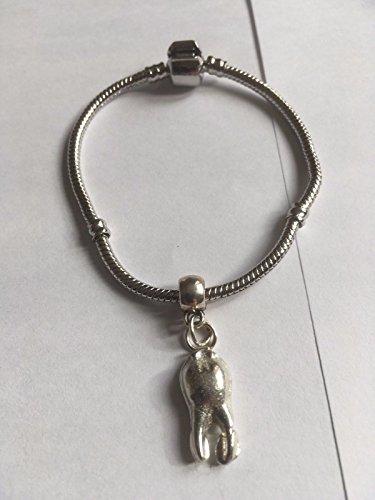 Zahn Zahnarzt Kieferorthopäden tg319a Charme auf einem Armband Silber rhodiniert Schlange geschrieben von uns Geschenke für alle 2016von Derbyshire UK