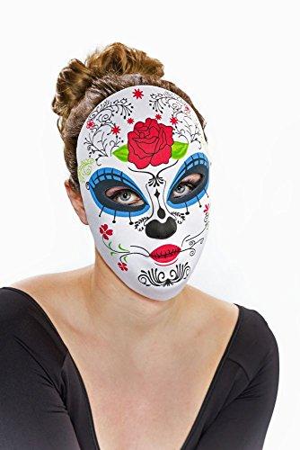 Festartikel Müller Maske Dia de los Muertos Tag der Toten weiblich Karneval Halloween (De Muertos Kostüme Dia Weibliche Los)